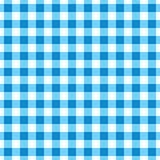 Überprüfter Stoff von blauen und grauen geometrischen Formen Hintergrund von farbigen Quadraten und von Rechtecken auf einem weiß stock abbildung