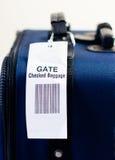 Überprüftes Gepäck der Fluglinie Gatter. Lizenzfreies Stockbild