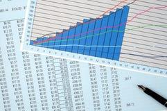 Überprüfung der Finanzen. Lizenzfreie Stockfotografie