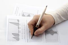 Überprüfung eines Reports Lizenzfreie Stockfotos
