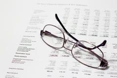 Überprüfung von Konten Stockbild