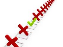 Überprüfungs-Prozess Lizenzfreies Stockfoto