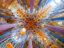 Überraschende Ansicht Barcelona-Kathedrale stockfotografie