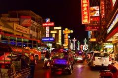 ?berraschende Ansicht von China-Stadt in Bangkok stockfoto