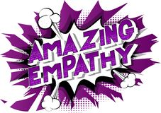 Überraschende Empathie - Comic-Buch-Artwörter vektor abbildung