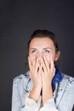 Überraschende Frau Lizenzfreie Stockfotografie