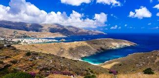 Überraschende Griechenland-Reihe - bildhafte Andros-Insel cyclades Lizenzfreies Stockfoto