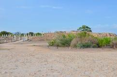 Überraschende Ruinen von alten römischen Stadt Salamis, gelegen nahe Famagusta, Nord-Zypern Die Ruinen sind und in einem in guter stockfoto