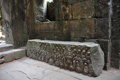 Überraschende Ruinen von Preah Khan Temple (12. Jahrhundert) in Kambodscha). Stockfoto