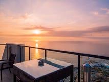 Ãœberraschender Sonnenuntergang in Beirut, der Libanon stockfoto