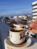 Überraschendes cofee stockfotografie