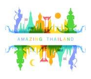 Überraschendes Thailand stock abbildung