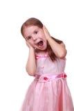 Überrascht fünf Jahre Mädchen Stockfoto