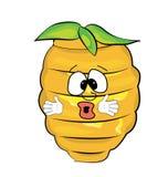 Überraschte Bienenstockkarikatur Stockfoto