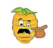 Überraschte Bienenstockkarikatur Stockfotografie