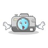 Überraschte Fotokamera-Charakterkarikatur lizenzfreie abbildung