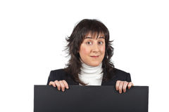 Überraschte Geschäftsfrau Lizenzfreie Stockbilder