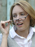 Überraschte Geschäftsfrau Lizenzfreie Stockfotografie