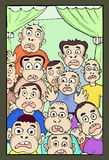 Überraschte Gesichter Stockbild
