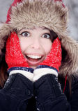 Überraschte junge Frau Lizenzfreies Stockbild