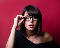 Überraschte junge Frau Lizenzfreie Stockfotos