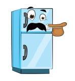 Überraschte Kühlschrankkarikatur Stockfotografie