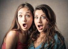 Überraschte Mädchen lizenzfreies stockfoto
