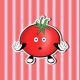 Überraschte nette Tomate auf einem netten Hintergrund lizenzfreie stockfotografie