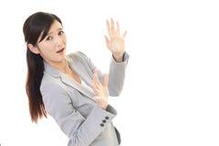 Überraschte orientalische Frau Stockfotos