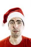 Überraschte Santa Claus lizenzfreie stockfotos