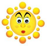 Überraschte Sonne Stockfotos