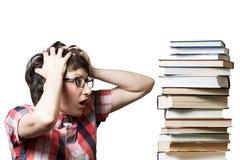 Überraschte Studentin Lizenzfreie Stockbilder