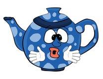 Überraschte Teekannenkarikatur Lizenzfreies Stockbild