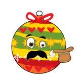 Überraschte Weihnachtsbaum-Spielzeugkarikatur Lizenzfreies Stockfoto