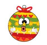 Überraschte Weihnachtsbaum-Spielzeugkarikatur Lizenzfreies Stockbild