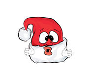 Überraschte Weihnachtshutkarikatur Lizenzfreies Stockbild