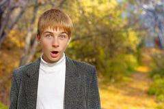 Überraschter Junge Lizenzfreie Stockbilder