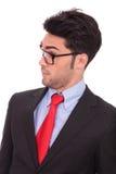Überraschter junger Geschäftsmann Stockbilder