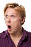 Überraschter junger Mann Lizenzfreies Stockbild