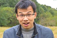 Überraschter junger Mann Lizenzfreie Stockbilder