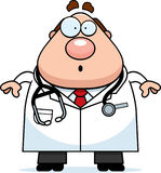 Überraschter Karikatur-Doktor Stockfoto