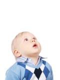 Überraschter kleiner Junge Stockfoto