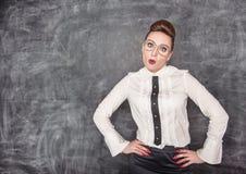 Überraschter Lehrer Stockfotos