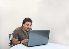 Überraschter Mann Stockfotografie