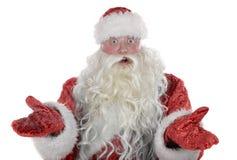 Überraschter Weihnachtsmann stockbilder