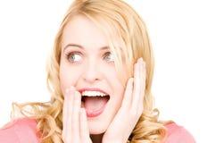 Überraschtes Frauengesicht Lizenzfreies Stockbild