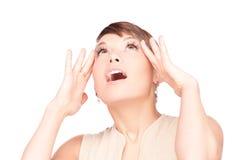 Überraschtes Frauengesicht Lizenzfreie Stockbilder