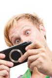Überraschtes Gamer Lizenzfreie Stockfotos