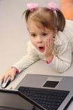 Überraschtes Gesicht eines Kindes Lizenzfreie Stockfotos