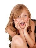 Überraschtes junges Mädchen Stockfotos